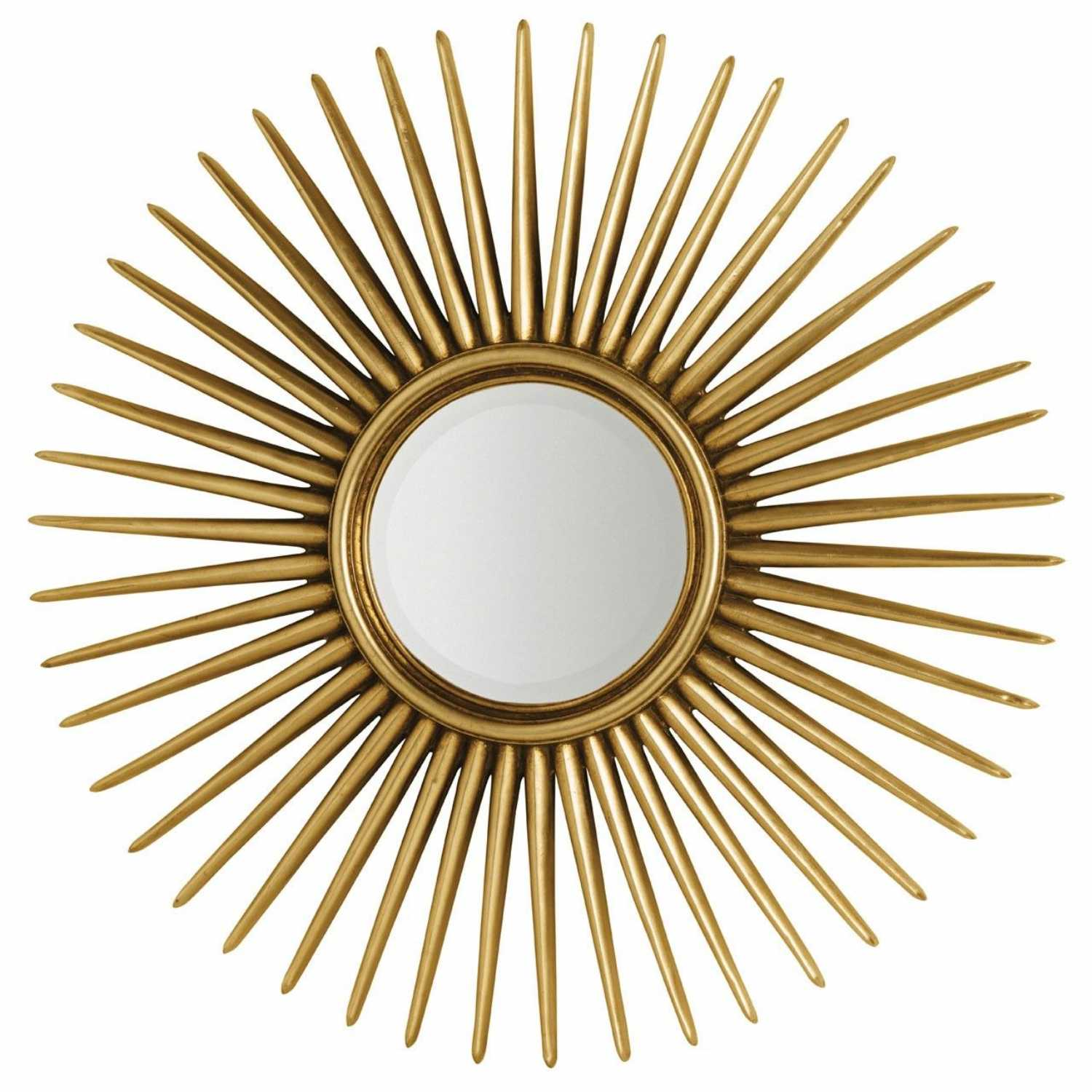 Alfano gold polyresin frame sunshine star large round wall for Large round gold mirror