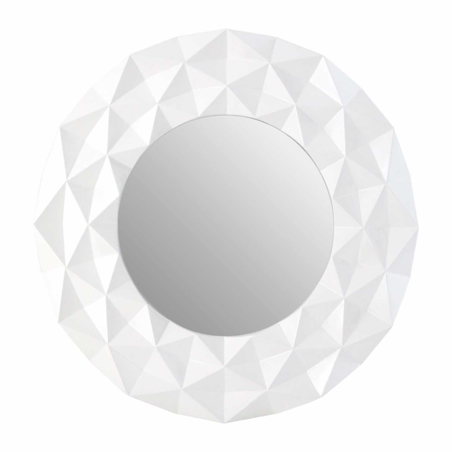 White round wall mirror