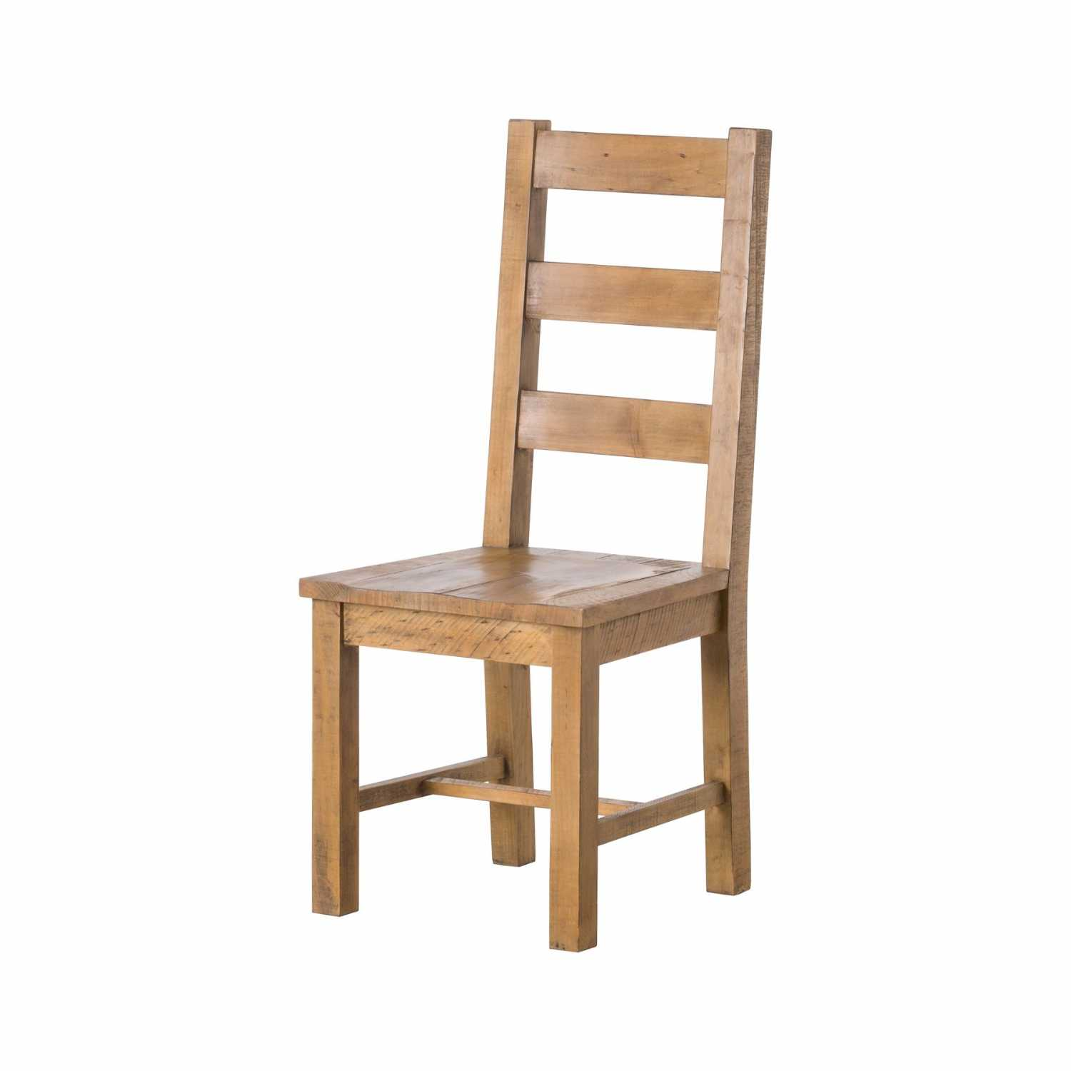 Rustic Reclaimed Natural Pine Wood Large Ladder Back Kitchen Dining Chair
