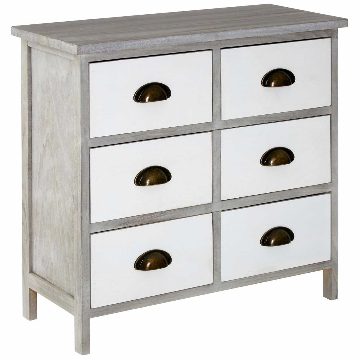 Grey white modern chest of drawers