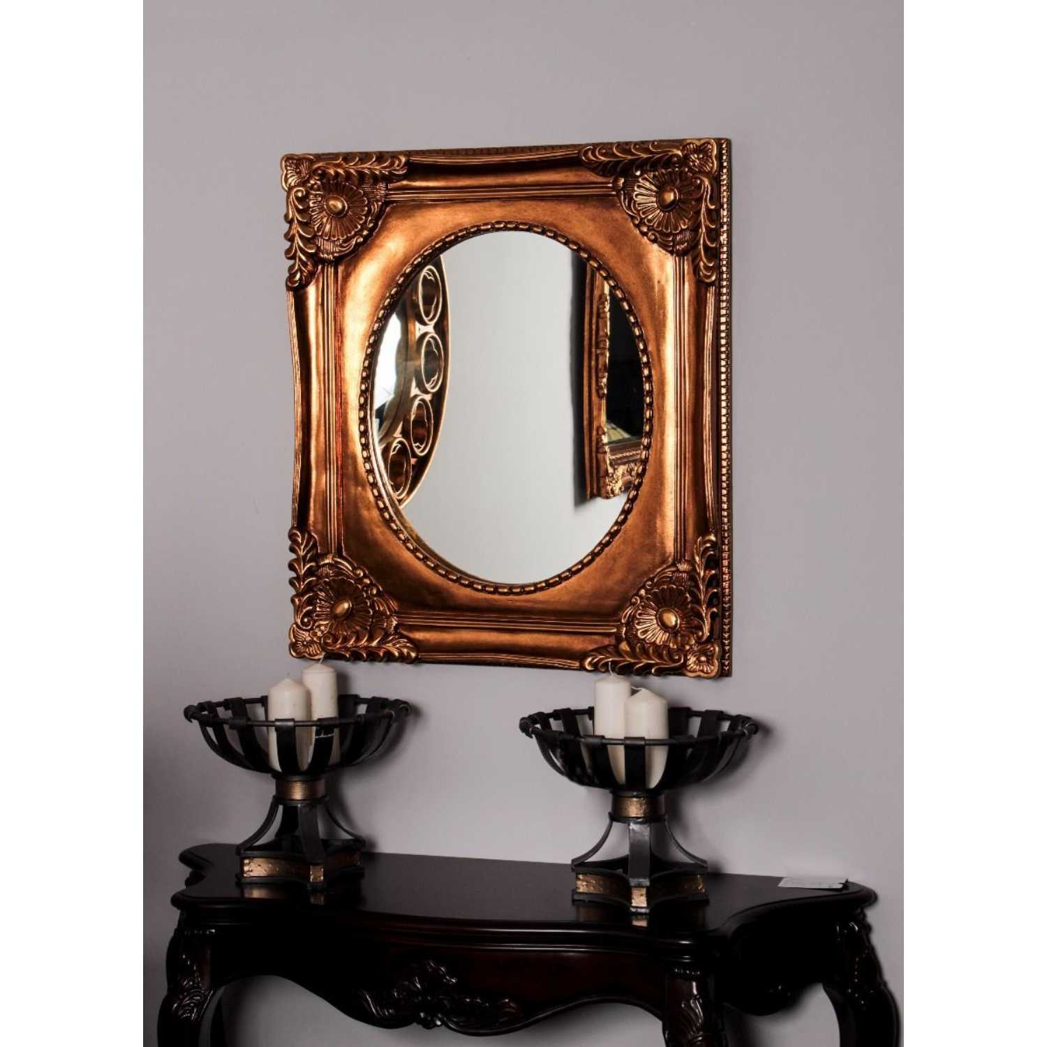 Traditional Designed Viva Wall Mirror With Ornate Gold Frame