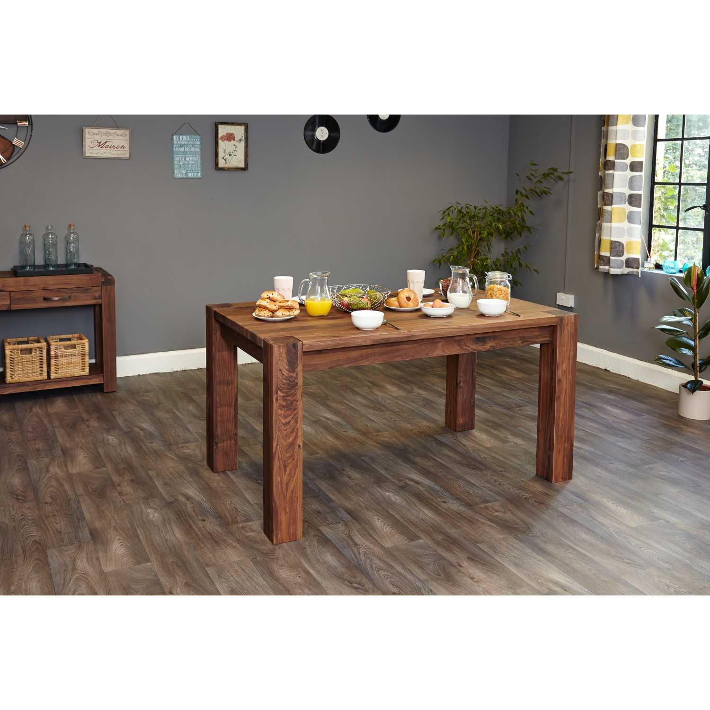 Walnut 150cm Dining Table 6 Seater Modern