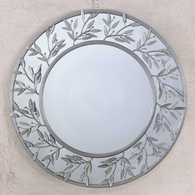 Modern Round Decorative Metal Framed Wall Mirror