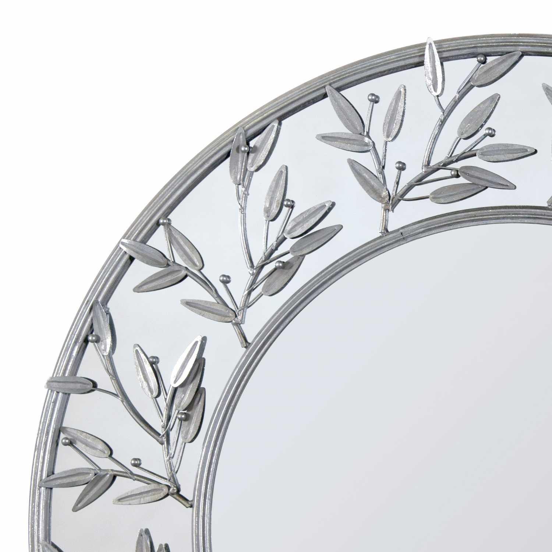 Modern Round Decorative Metal Framed Wall Mirror on Wall Mirrors Decorative id=99829