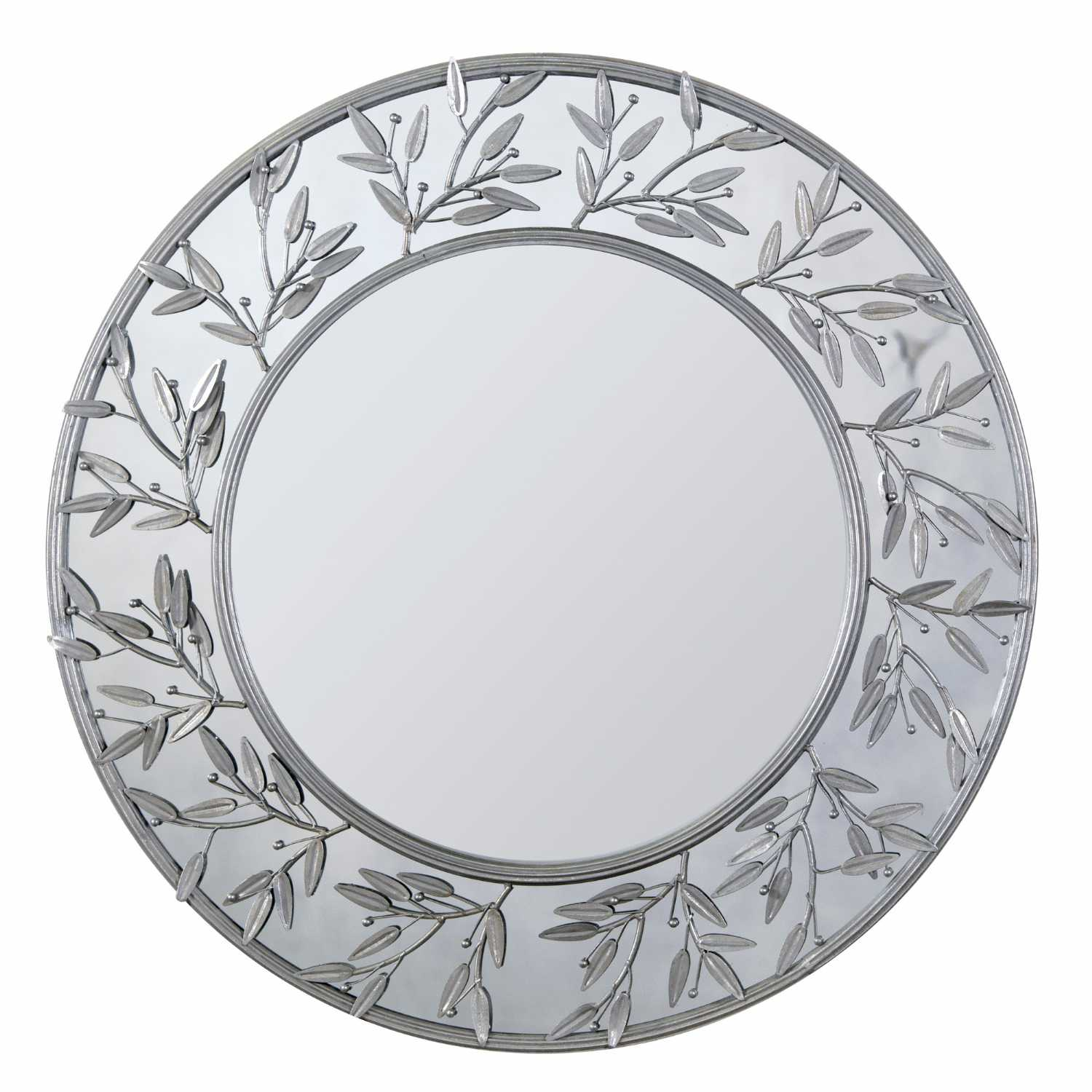 Modern round decorative metal framed wall mirror Round framed mirror