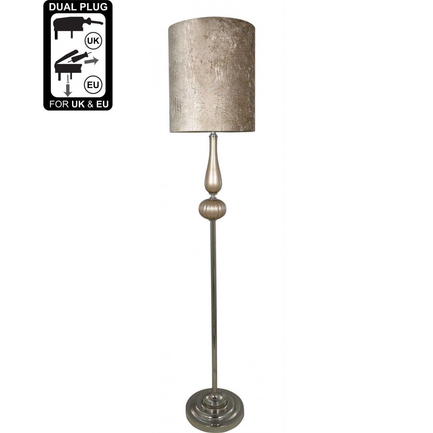 led ie en portofino delicate in chrome lights lamp floors floor