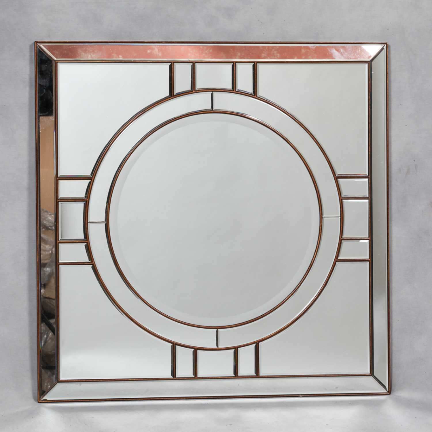 In stock free delivery deco antique gold framed venetian glass large square wall mirror