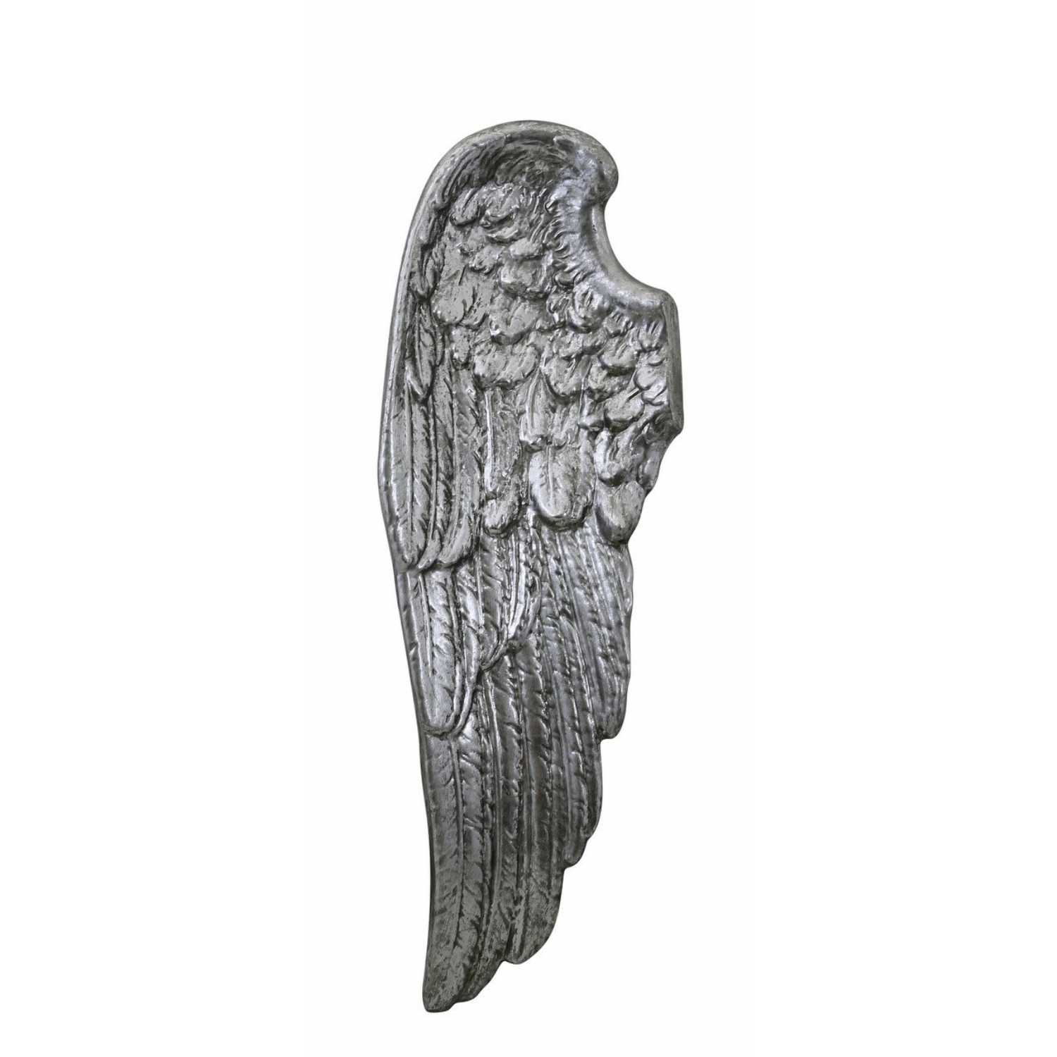Antique silver left angel wing wall decoration for Angel wings wall decoration uk