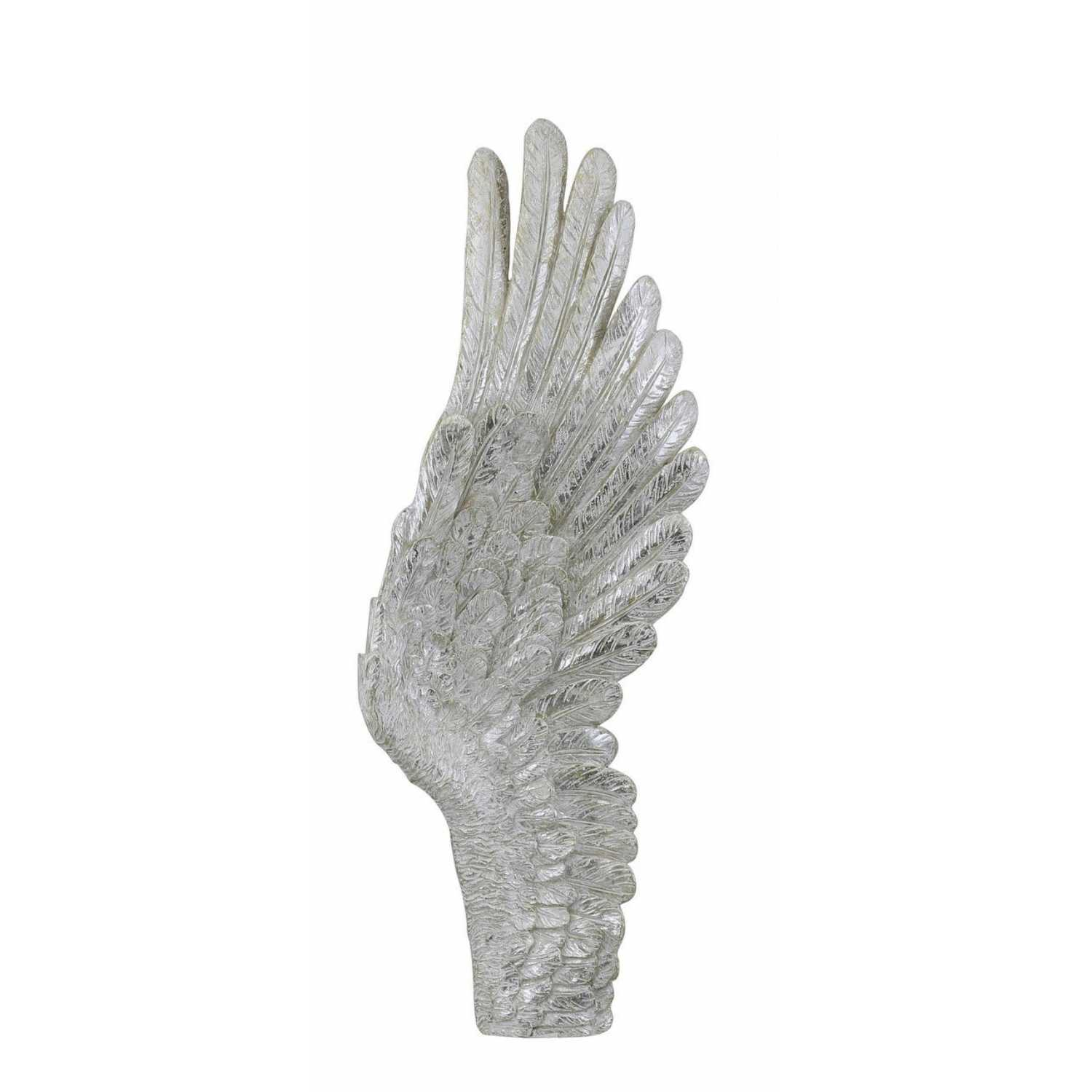 Mother of pearl right angel wing wall decoration for Angel wings wall decoration uk